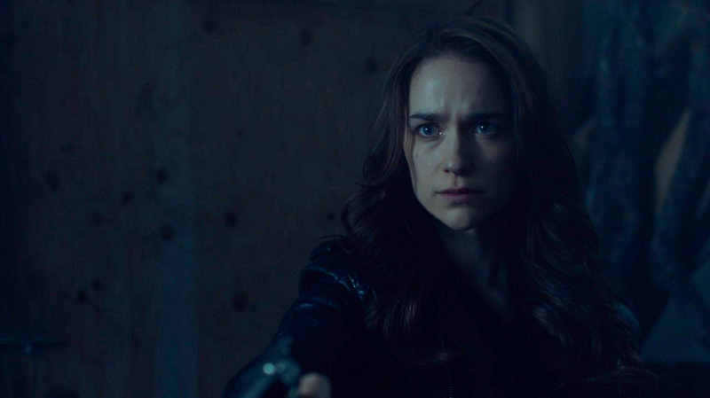 Wynonna looks solemn as she realizes she almost lost her sister