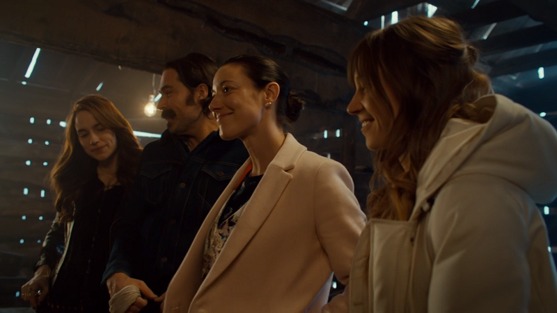 Jolene sidles up to Waverly, Doc and Wynonna like she belongs there