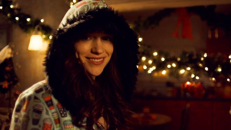 Wynonna smiles in her onesie