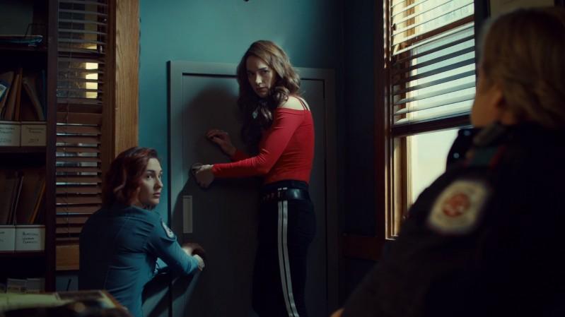 Wynonna and Nicole open the secret door together