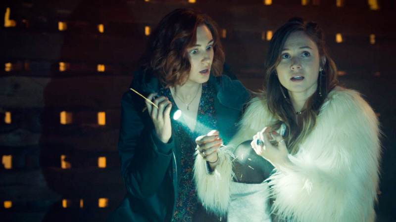 Waverly and Nicole look surprised