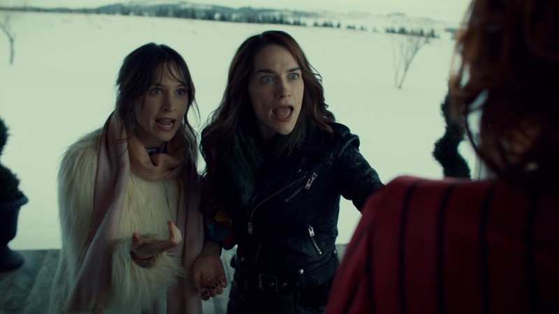 The Earp sisters gasp at Mercedes' face