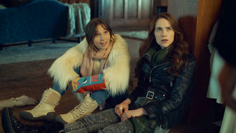 Waverly looks ready for anything Wynonna looks wiped