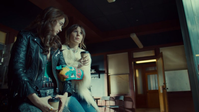 Waverly holds Wynonna's arm with her giant oven mitt