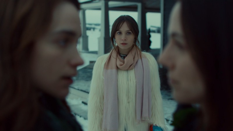 Waverly looks at Kevin and Wynonna in disbelief