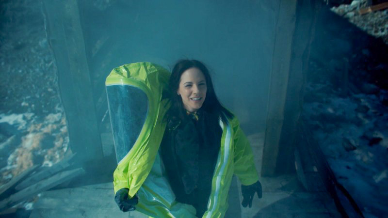 Anna Silk emerges from the mine