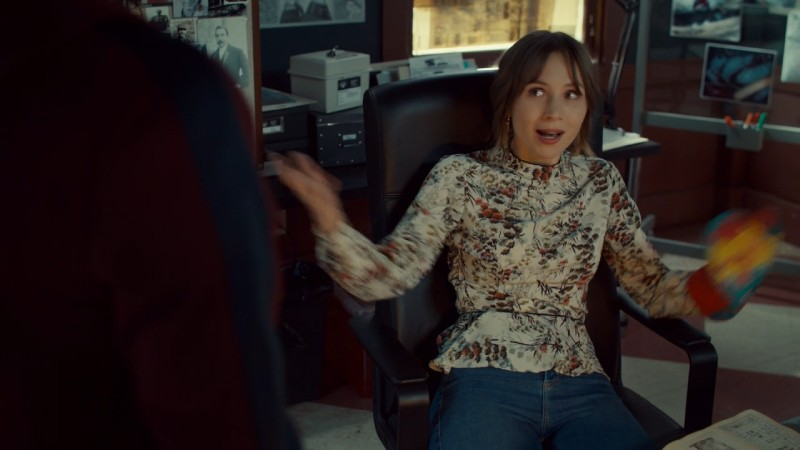 Waverly throws her arms up in disbelief