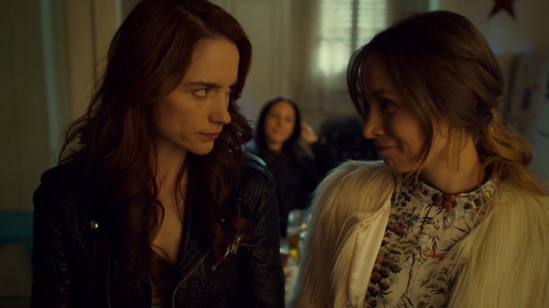 waverly smirks at wynonna while kevin watches