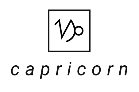 A stylized illustration of the astrological symbol for Capricorn