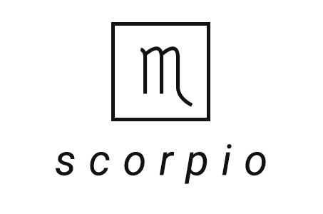 A stylized illustration of the astrological symbol for Scorpio