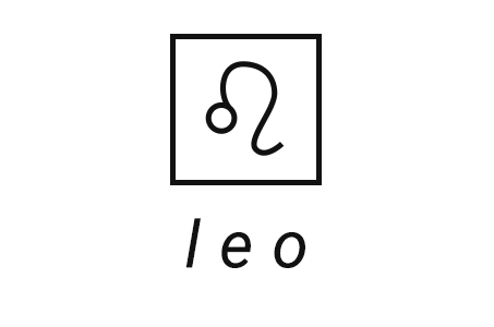 A stylized illustration of the astrological symbol for Leo