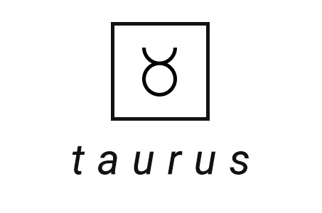 A stylized illustration of the astrological symbol for Taurus