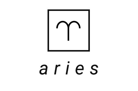 A stylized illustration of the astrological symbol for Aries