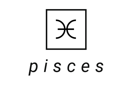 A stylized illustration of the astrological symbol for Pisces