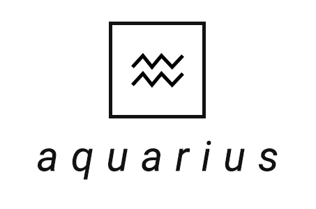A stylized illustration of the astrological symbol for Aquarius