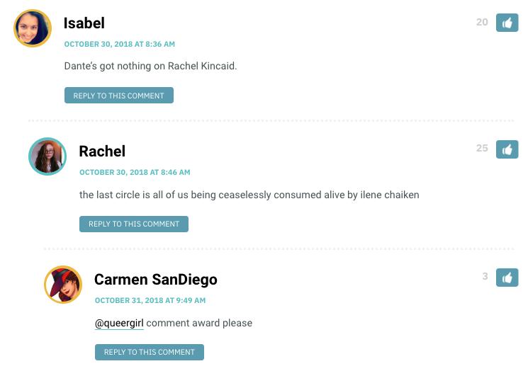 Dante's got nothing on Rachel Kincaid.