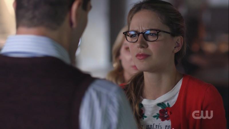 Kara scrunches her face at Ben