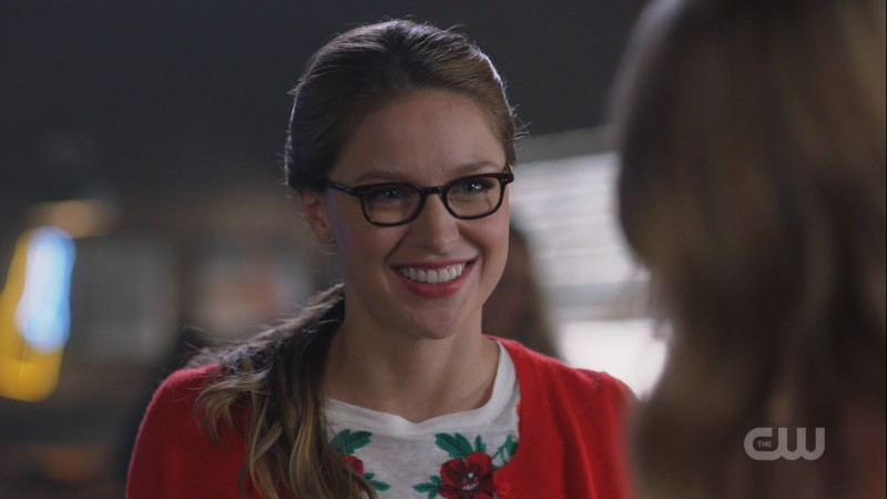 Kara smiles brightly