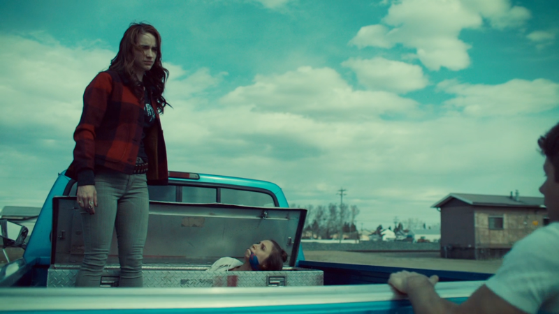 Wynonna reveals Waverly tied up in a box