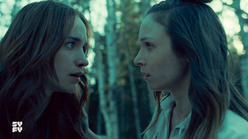earp sisters look at each other in shock