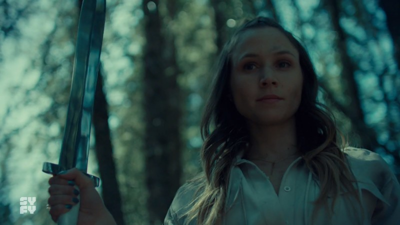 Waverly holds the sword