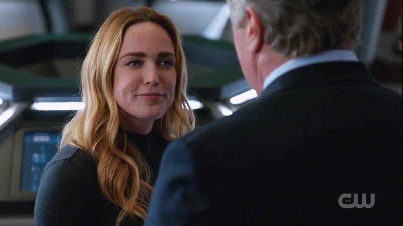 Sara smiles at Hank