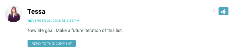 New life goal: Make a future iteration of this list.