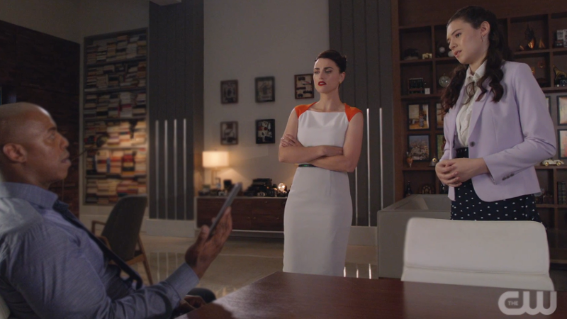 Nia and Lena both look at James like he's made bad choices because he has