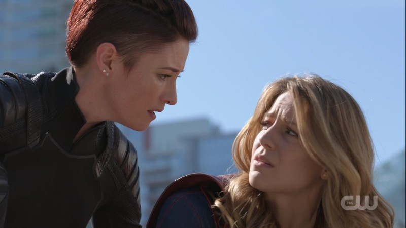 Alex and Kara exchange worried looks