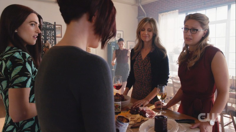 The women of Supergirl share a frame at Thanksgiving