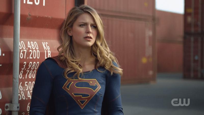 Supergirl looks Concerned