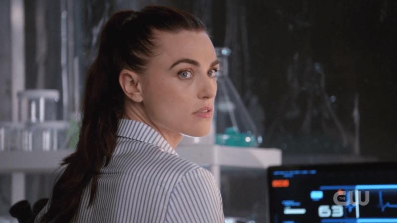 Lena looks over her shoulder saucily