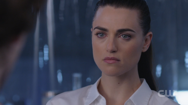 Lena looks Serious while she sciences