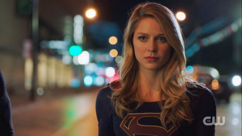 Supergirl looks fierce and ready