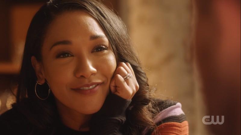 Iris smiles lovingly