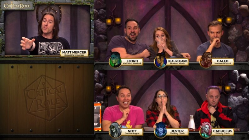 Critical Role stressed