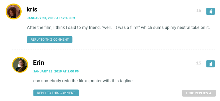 """After the film, I think I said to my friend, """"well… it was a film!"""" which sums up my neutral take on it."""