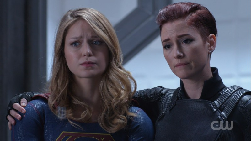Alex and Kara hold each other