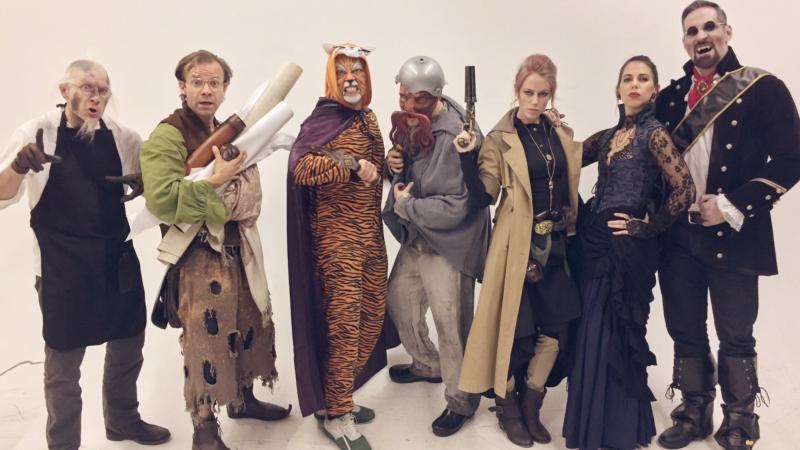 Critical Role cast in costume