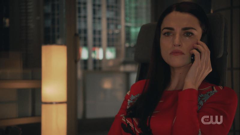 Lena looks upset