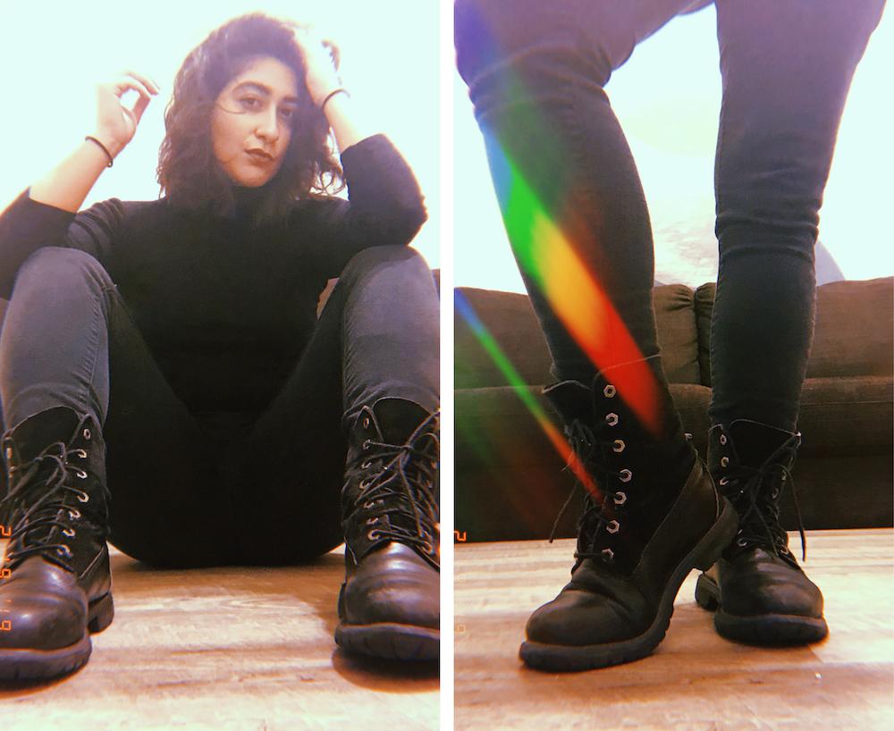 Heavy rubber lesbian