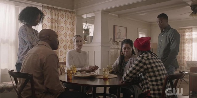 Coop's family gathers around the table to discuss options.