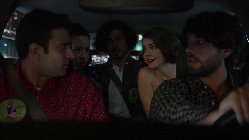 Raj, Mariana, Gael and Callie take a car to their next stop.