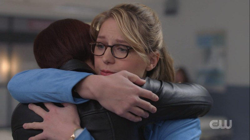 Kara hugs Alex