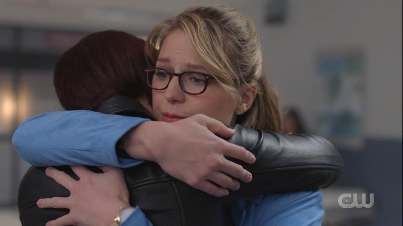 Kara hugs Alex
