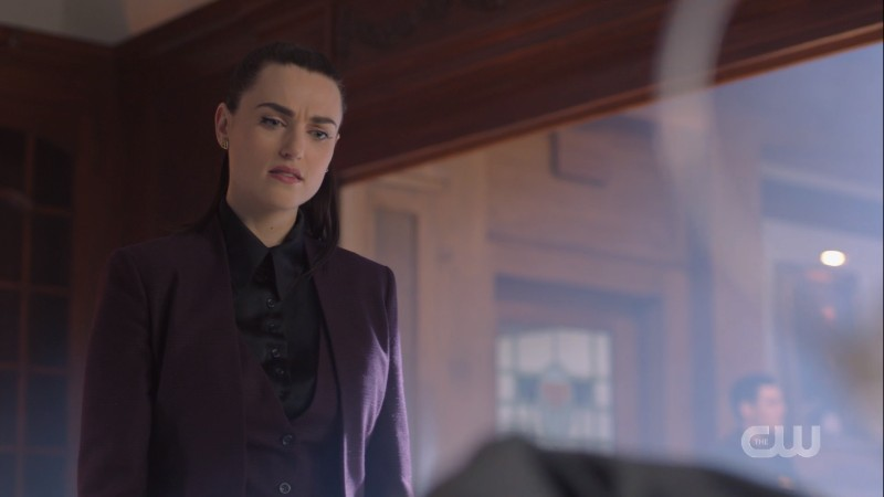 Lena glares annoyed at Lex