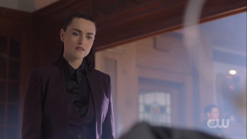 Lena glares annoyed at Lex