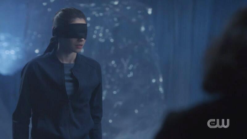Nia blindfolded