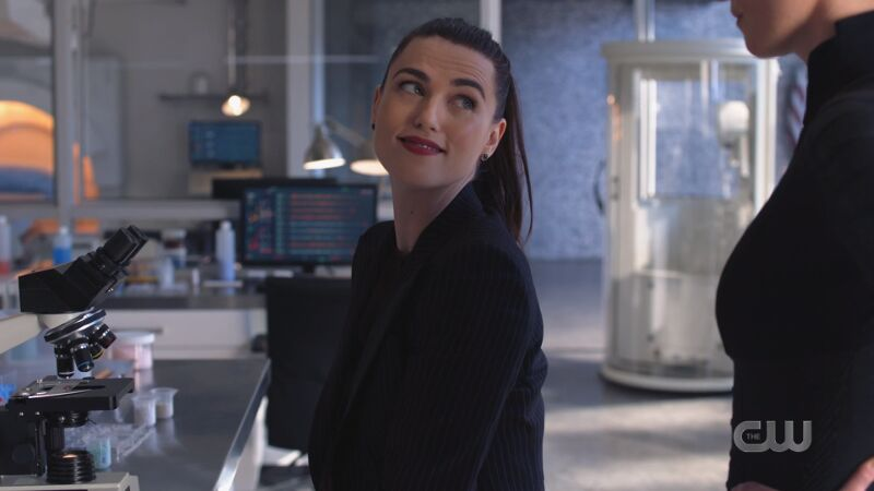 Lena looks up at Alex approvingly