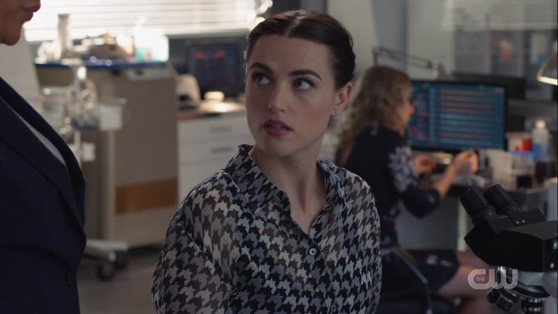 Lena looks up at Haley barely caring about what she's saying